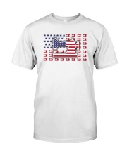 Sew Machine Us Flag Classic T-Shirt front