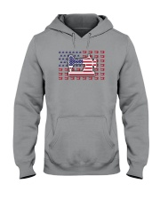 Sew Machine Us Flag Hooded Sweatshirt thumbnail