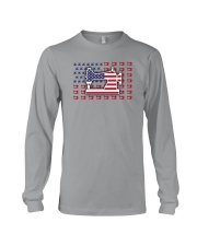 Sew Machine Us Flag Long Sleeve Tee tile