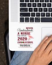 Never Underestimate A Nurse Sticker - Single (Vertical) aos-sticker-single-vertical-lifestyle-front-11