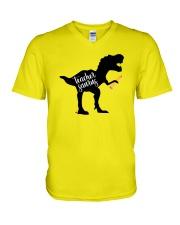 Teachersaurus V-Neck T-Shirt thumbnail