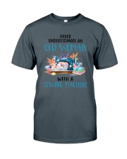 An Old Woman With A Sew Machine Classic T-Shirt thumbnail