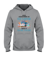 An Old Woman With A Sew Machine Hooded Sweatshirt thumbnail
