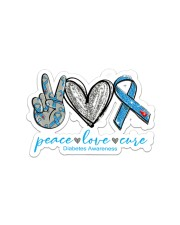 Peace Love Diabetes Sticker - Single (Horizontal) front
