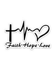 Jesus Faith Hope Love Sticker - Single (Horizontal) front