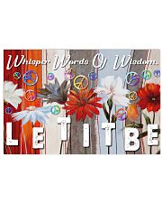 Hippie Let It Be 17x11 Poster front