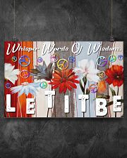 Hippie Let It Be 17x11 Poster poster-landscape-17x11-lifestyle-12