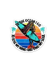 Surfing To The Ocean Sticker - Single (Horizontal) front