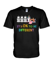 It's OK To Be Different V-Neck T-Shirt tile