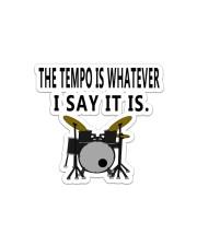 Drum The Tempo Sticker - Single (Horizontal) front