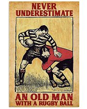 Old Man With Rugby Ball 11x17 Poster front