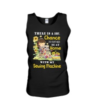 At Home With Sew Machine Unisex Tank thumbnail
