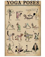 Yoga Poses  11x17 Poster front