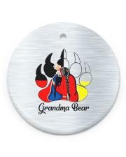 Native Grandma Bear Circle ornament - single (porcelain) front