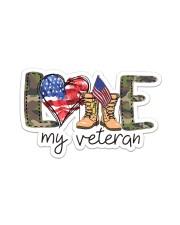 Love My Veteran Sticker - Single (Horizontal) front
