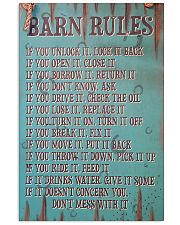 Barn Rules Poster 11x17 Poster front
