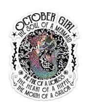 October Girl Sticker - Single (Vertical) front