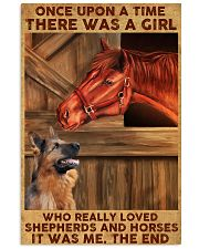 A Girl Loved Horses And Shepherds 11x17 Poster front