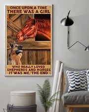 A Girl Loved Horses And Shepherds 11x17 Poster lifestyle-poster-1