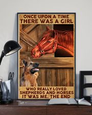A Girl Loved Horses And Shepherds 11x17 Poster lifestyle-poster-2
