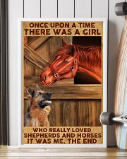 A Girl Loved Horses And Shepherds 11x17 Poster lifestyle-poster-4
