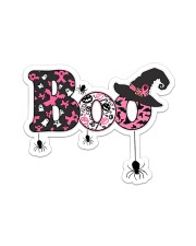 Breast Cancer Boo  Sticker - Single (Horizontal) front