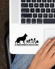 German Shepherd  Sticker - Single (Horizontal) aos-sticker-single-horizontal-lifestyle-front-11