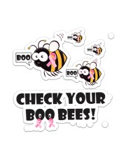 Breast Cancer Check Your Boo Bees Sticker - Single (Vertical) front