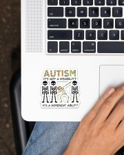 Autism It's Not A Disability Sticker - Single (Horizontal) aos-sticker-single-horizontal-lifestyle-front-11