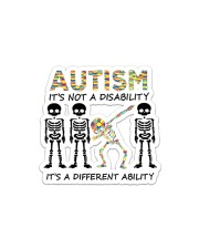 Autism It's Not A Disability Sticker - Single (Horizontal) front