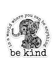 Elephant Be Kind Sticker - Single (Vertical) front