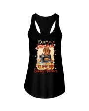 Easily Distracted By Sewing Machines And Dogs Ladies Flowy Tank thumbnail
