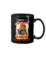 Easily Distracted By Sewing Machines And Dogs Mug thumbnail