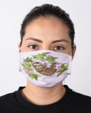 For Sloth Lovers Cloth face mask aos-face-mask-lifestyle-01
