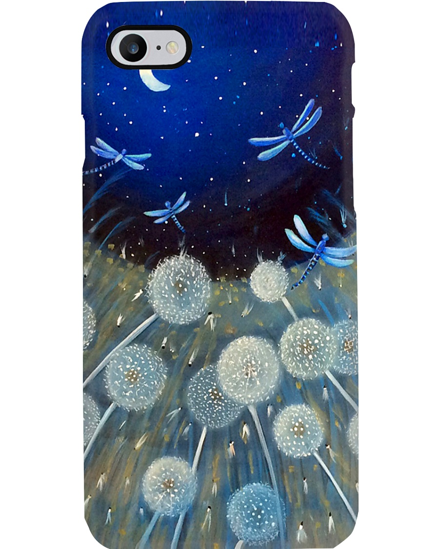 Dragonflies And Dandelion PC Phone Case