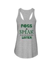 Dog Do Speak Ladies Flowy Tank thumbnail