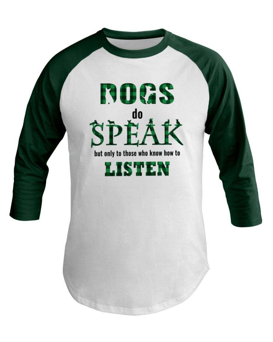 Dog Do Speak Baseball Tee