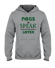 Dog Do Speak Hooded Sweatshirt thumbnail