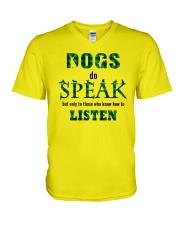 Dog Do Speak V-Neck T-Shirt thumbnail