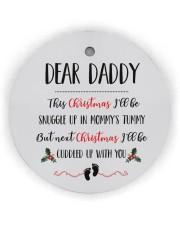 Dear Daddy Circle ornament - single (wood) thumbnail