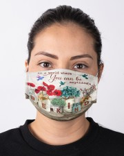 Hummingbird Be Kind Cloth face mask aos-face-mask-lifestyle-01