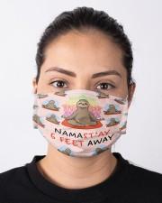 Sloth Namastay Mask Cloth face mask aos-face-mask-lifestyle-01