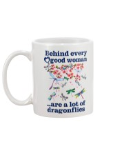 Behind Every Good Woman Have A Lot Of Dragonflies Mug back