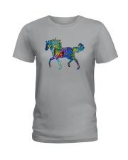 Mosaic Horse Ladies T-Shirt thumbnail