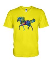 Mosaic Horse V-Neck T-Shirt thumbnail