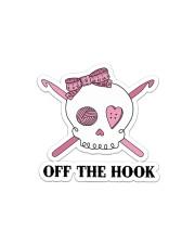 Crochet Off The Hook Sticker - Single (Horizontal) front