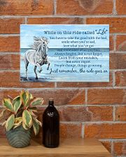 Horse When On This Ride Called Life 17x11 Poster poster-landscape-17x11-lifestyle-23
