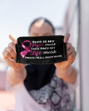 Breast Cancer Fight Cloth face mask aos-face-mask-lifestyle-07