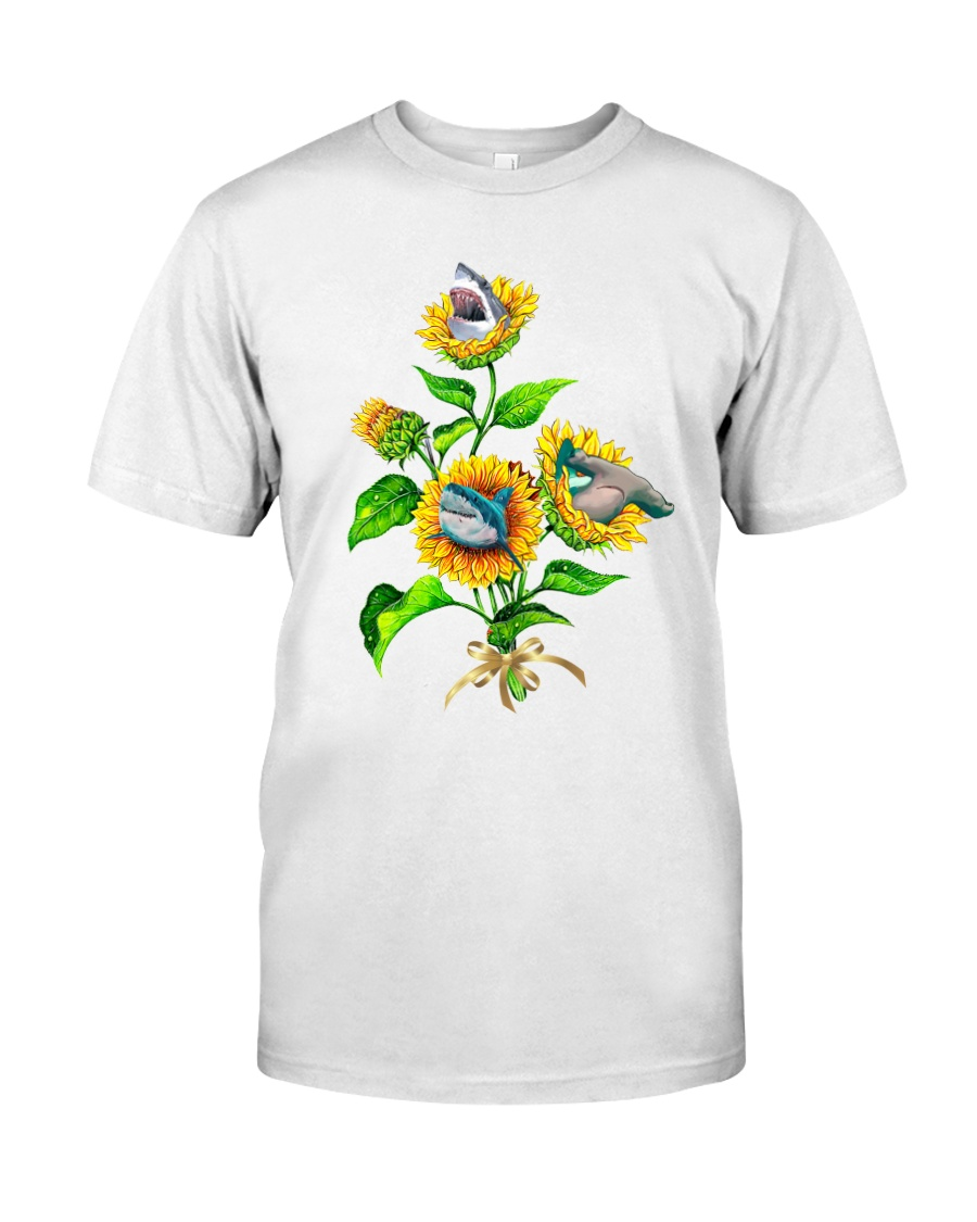 Sharks And Sunflower Classic T-Shirt