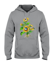 Sharks And Sunflower Hooded Sweatshirt thumbnail